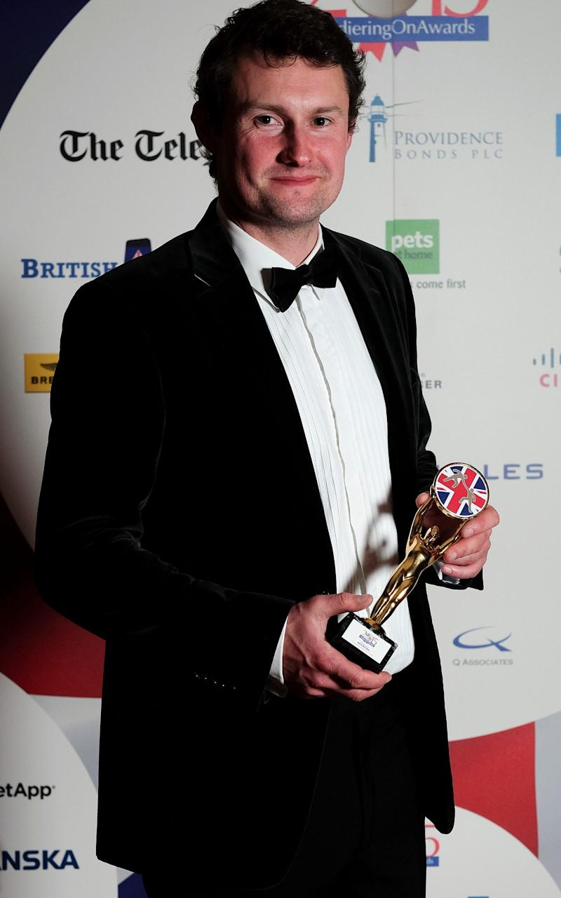 Major Steve McCulley at the Soldiering On Awards after leaving the Marines