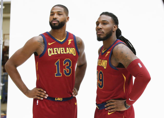 "Ty Lue's made his choice: <a class=""link rapid-noclick-resp"" href=""/nba/players/4884/"" data-ylk=""slk:Tristan Thompson"">Tristan Thompson</a> (left) is back in, and <a class=""link rapid-noclick-resp"" href=""/nba/players/5068/"" data-ylk=""slk:Jae Crowder"">Jae Crowder</a> is back out. (AP)"