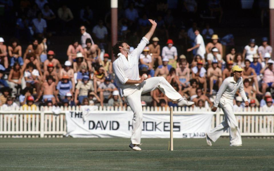 Dennis Lillee of Australia bowling...SYDNEY - JANUARY: Dennis Lillee of Australia bowling during the Super-test between Australia and the West Indies held in January, 1979 in Sydney, Australia - Adrian Murrell/Getty Images