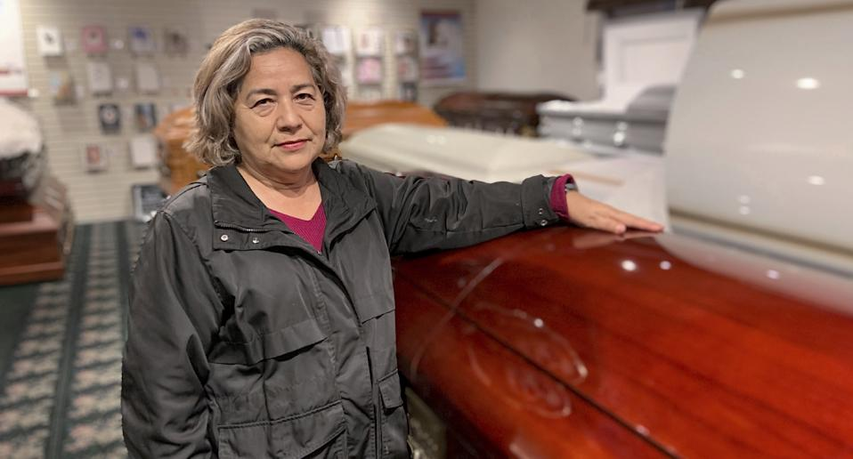Magda Maldonado, owner of Continental Funeral Home in Los Angeles