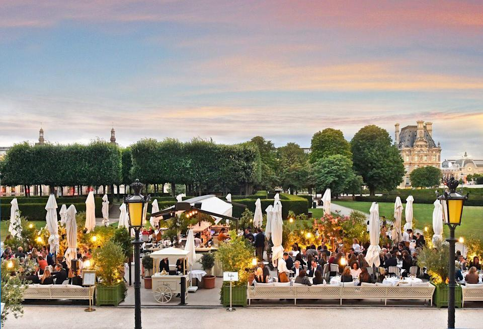 """<p>With less tourists in Paris this summer, areas that normally might fill with crowds are dotted only with a scattering of Parisians. This is the moment to go to <a href=""""http://loulou-paris.com"""" rel=""""nofollow noopener"""" target=""""_blank"""" data-ylk=""""slk:Loulou"""" class=""""link rapid-noclick-resp"""">Loulou</a>. Situated on the ground floor of the Musée des Arts Décoratifs on the rue de Rivoli, and opening onto one of the large outdoor terraces of the Palais du Louvre, Loulou couldn't be more perfectly located, but the light Mediterranean menu is what draws in the locals. Try the <em>salade de haricots verts, pistaches de Sicile, Pecorino fumé</em> and—this is a must—the truffled pizza. The team behind Loulou previously opened Monsieur Bleu in the Palais de Tokyo. </p>"""