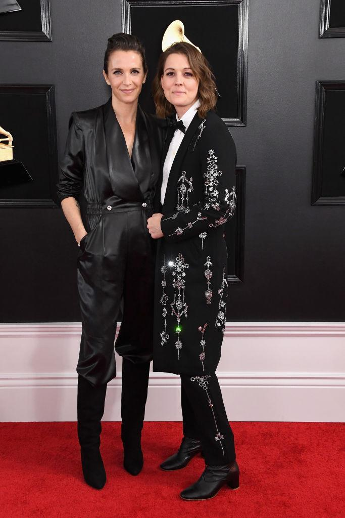 <p>Catherine Shepherd, left, and Brandi Carlile attend the 61st annual Grammy Awards at Staples Center on Feb. 10, 2019, in Los Angeles. </p>