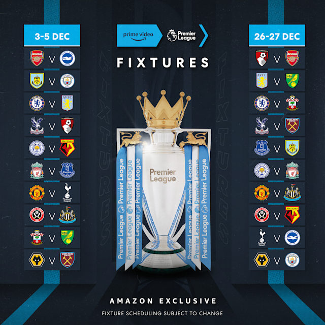 Premier League fixtures to be broadcast on Amazon Prime