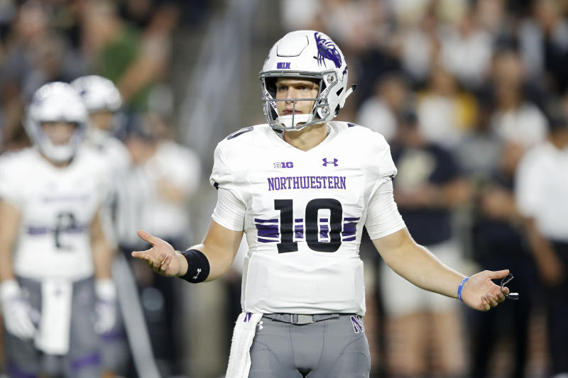 TJ Green still has a chance to win Northwestern's starting QB job over a former five-star recruit. (Getty Images)