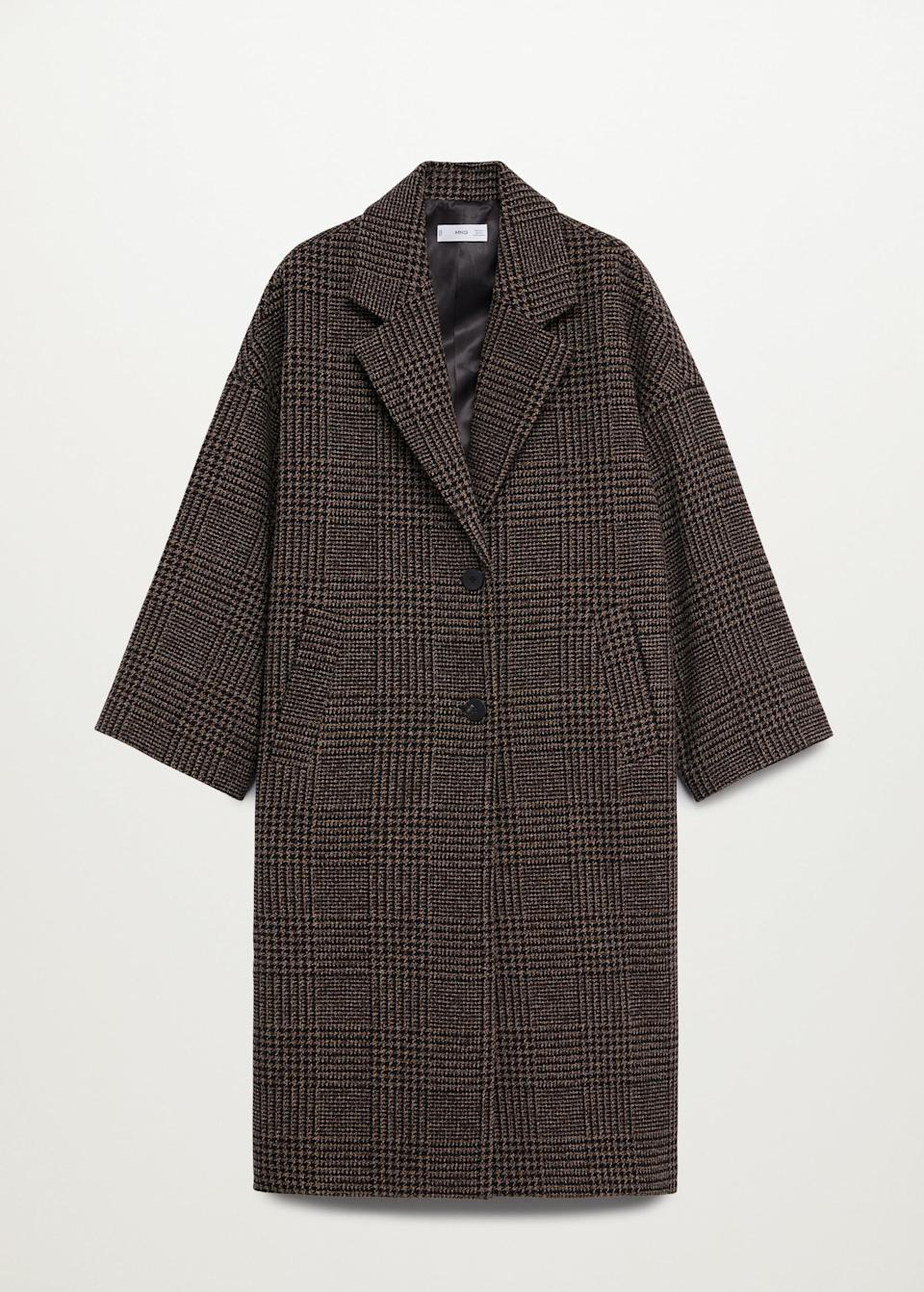 <p>Take a cue from Gigi Hadid and team this <span>Mango Oversize Wool Coat</span> ($150) with a pair of knee-high suede boots and a shearling bucket hat.</p>