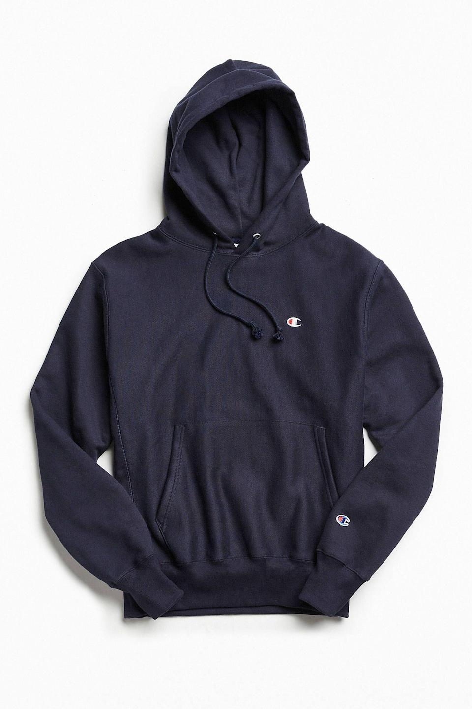 """<p><strong>Champion</strong></p><p>urbanoutfitters.com</p><p><strong>$60.00</strong></p><p><a href=""""https://go.redirectingat.com?id=74968X1596630&url=https%3A%2F%2Fwww.urbanoutfitters.com%2Fshop%2Fchampion-reverse-weave-hoodie-sweatshirt-001&sref=https%3A%2F%2Fwww.esquire.com%2Fstyle%2Fmens-fashion%2Fg3357%2Fbest-hoodies-men%2F"""" rel=""""nofollow noopener"""" target=""""_blank"""" data-ylk=""""slk:Buy"""" class=""""link rapid-noclick-resp"""">Buy</a></p><p>A true OG. Hey, if it ain't broke...</p>"""