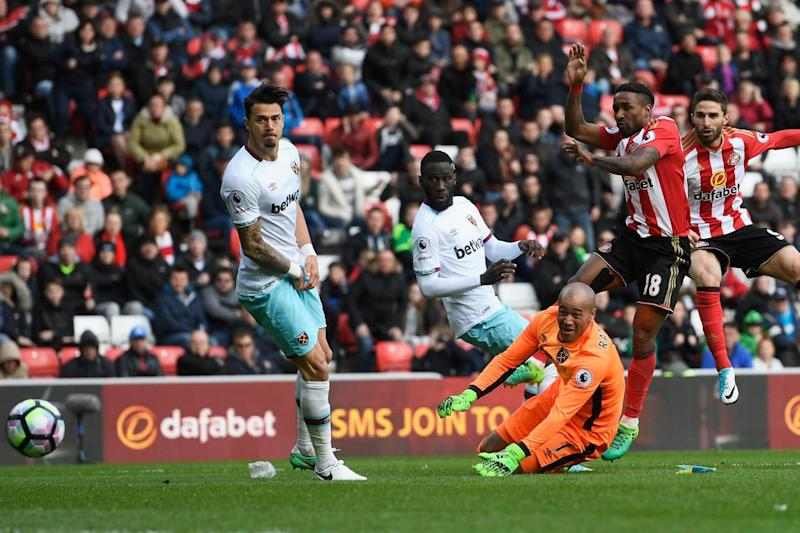 Costly: Borini levels the match late on after Randolph's error: Getty Images