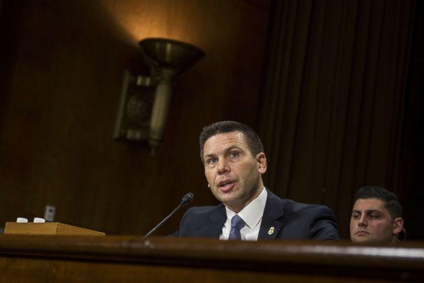 PHOTO: Commissioner of Customs and Border Protection Kevin McAleenan testifies during a Senate Judiciary Committee hearing, Dec. 11, 2018 in Washington, D.C. (Zach Gibson/Getty Images)