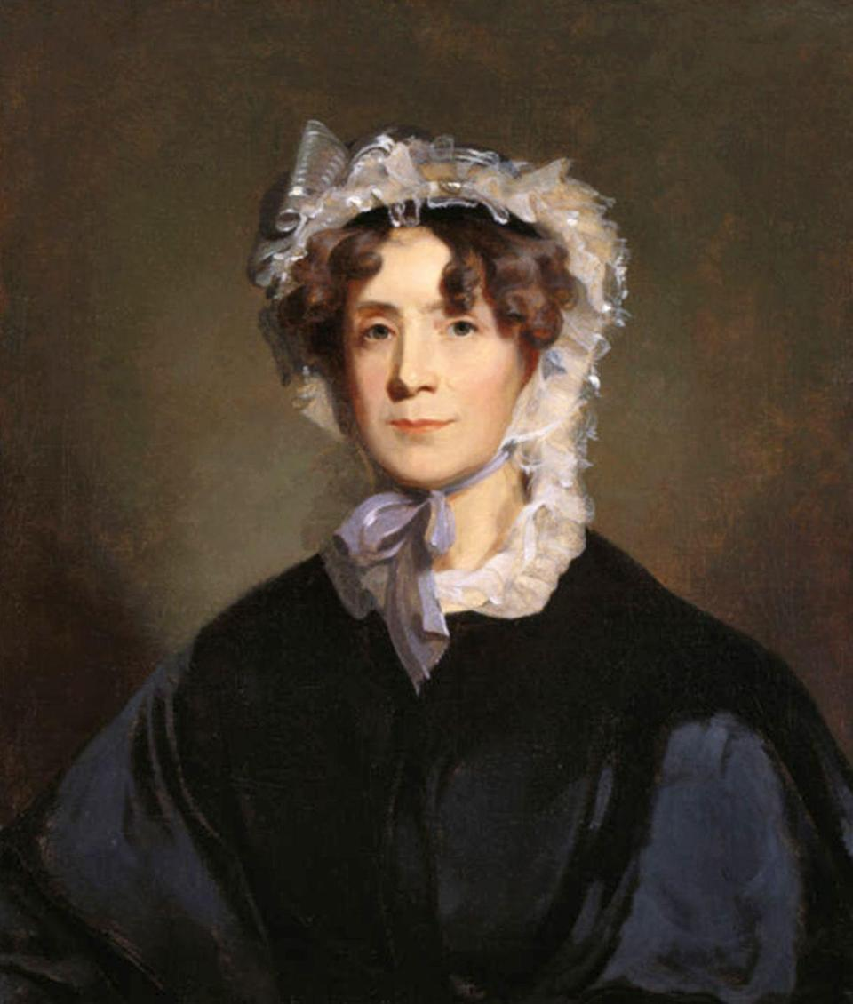 "<p>After her mother passed away when she was young, Martha Jefferson Randolph assumed the role of first lady when her father, Thomas Jefferson, took office in 1801. Though <a href=""http://www.firstladies.org/blog/first-ladies-never-married-to-presidents-martha-randolph/"" rel=""nofollow noopener"" target=""_blank"" data-ylk=""slk:she wasn't often at the White House"" class=""link rapid-noclick-resp"">she wasn't often at the White House</a>, she usually wore the latest Victorian fashions like a frilly hat with a purple bow.</p>"