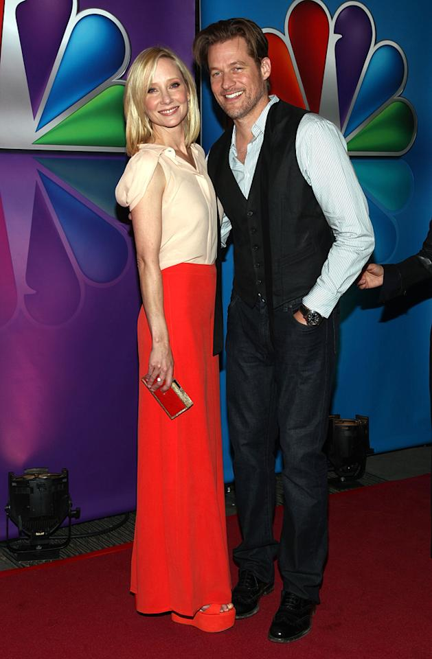 "Anne Heche (""Save Me"") and James Tupper attend NBC's 2012 Upfront Presentation at 51st Street on May 14, 2012 in New York City."