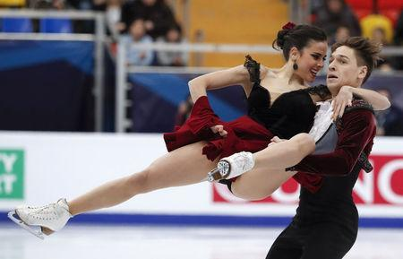 Figure Skating - ISU European Championships 2018 - Ice Dance Free Dance - Moscow, Russia - January 20, 2018 - Sara Hurtado and Kirill Khaliavin of Spain compete. REUTERS/Grigory Dukor