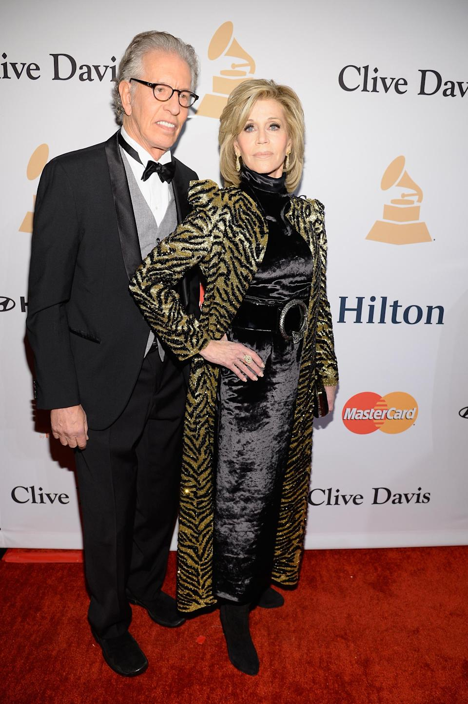 Jane Fonda attends the 2016 pre-Grammy Salute to Industry Icons ceremony honoring Irving Azoff at the Beverly Hilton Hotel on Feb. 14, 2016, in Beverly Hills, Calif. (Photo: Getty Images)