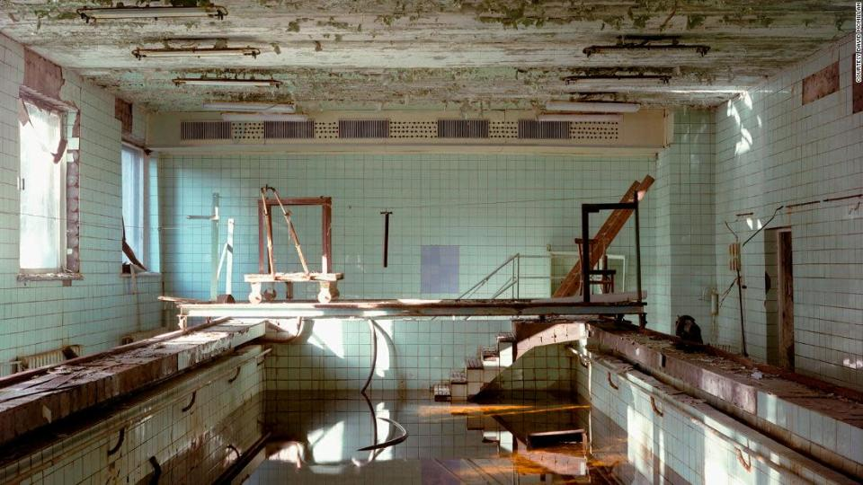 "<p>McMillan's images to the Chernobyl Exclusion Zone reveal eerily abandoned buildings. </p><div class=""cnn--image__credit""><em><small>Credit: Courtesy David McMillan / David McMillan</small></em></div>"