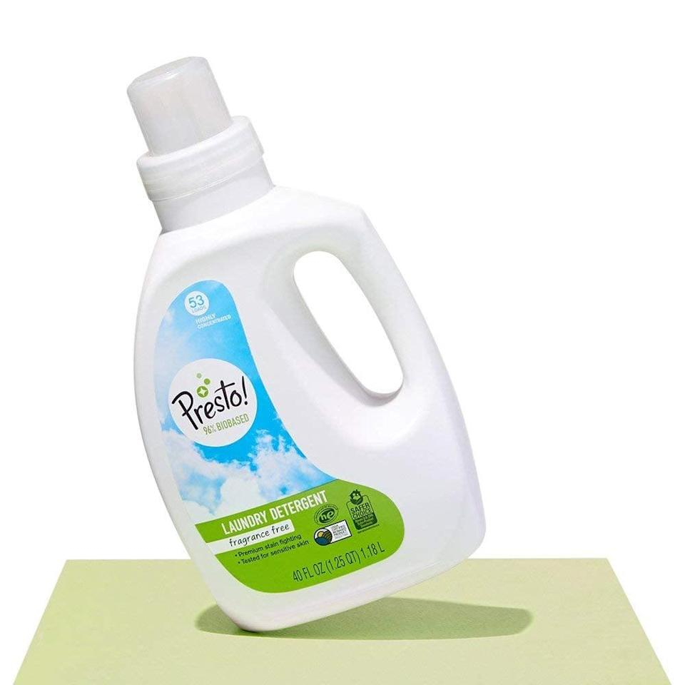 <p>The bio-based formula in the <span>Amazon Brand Presto! </span> ($20) fights tough dirt and stains.</p>