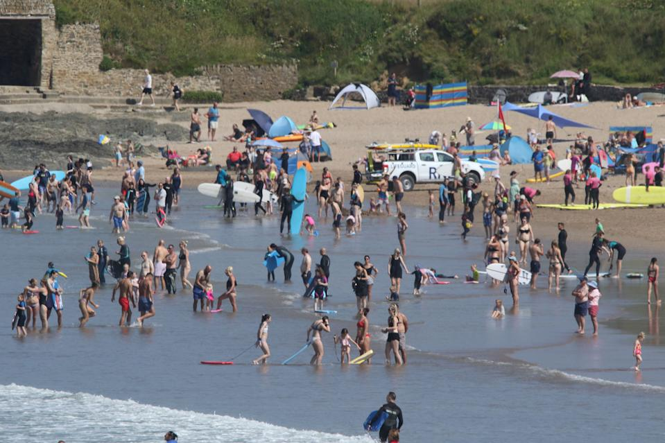 Paramedics were called to the beach at Croyde, Devon on Saturday. (SWNS)