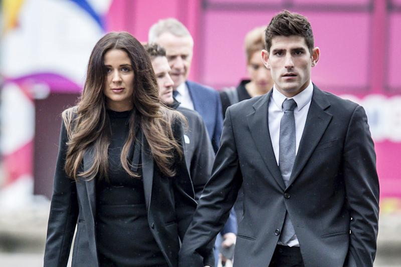 Controversial trial: Ched Evans, pictured outside court, was found not-guilty of rape: Ben Birchall/PA