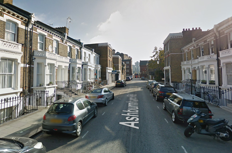 Officers were called to reports of a robbery in Ashburnham Road (Google Maps)