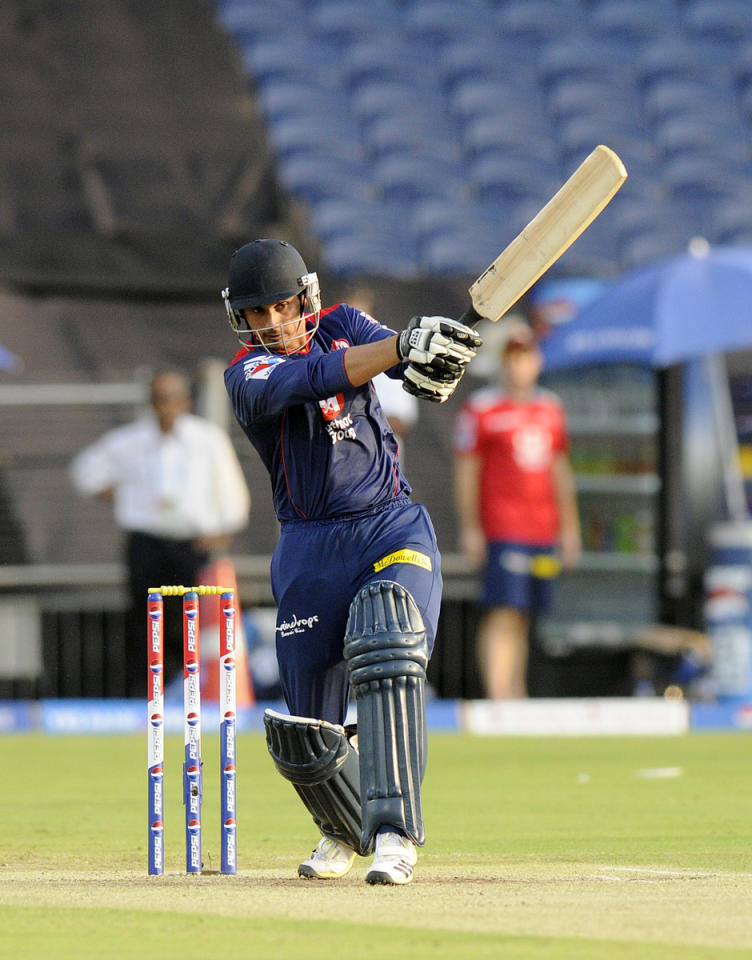 Bharat Chipli of Delhi Daredevils bats during match 71 of the Pepsi Indian Premier League ( IPL) 2013  between The Pune Warriors India and the Delhi Daredevils held at the Subrata Roy Sahara Stadium, Pune on the 19th May 2013. (BCCI)