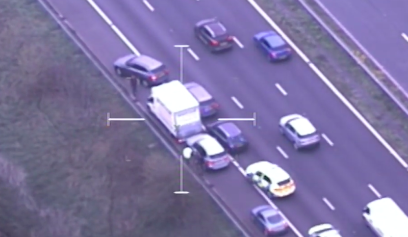Police stopped the van on the M5 motorway (Devon and Cornwall Police)