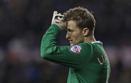 Football Soccer - Derby County v Preston North End - Sky Bet Football League Championship - iPro Stadium - 15/16 - 2/2/16 Preston's Anders Lindegaard Mandatory Credit: Action Images / Ed Sykes