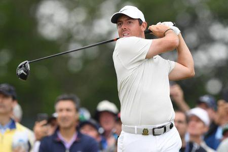 Jun 15, 2018; Southampton, NY, USA; Rory McIlroy tees off the ninth hole during the second round of the U.S. Open golf tournament at Shinnecock Hills GC - Shinnecock Hills Golf C. Mandatory Credit: Dennis Schneidler-USA TODAY Sports