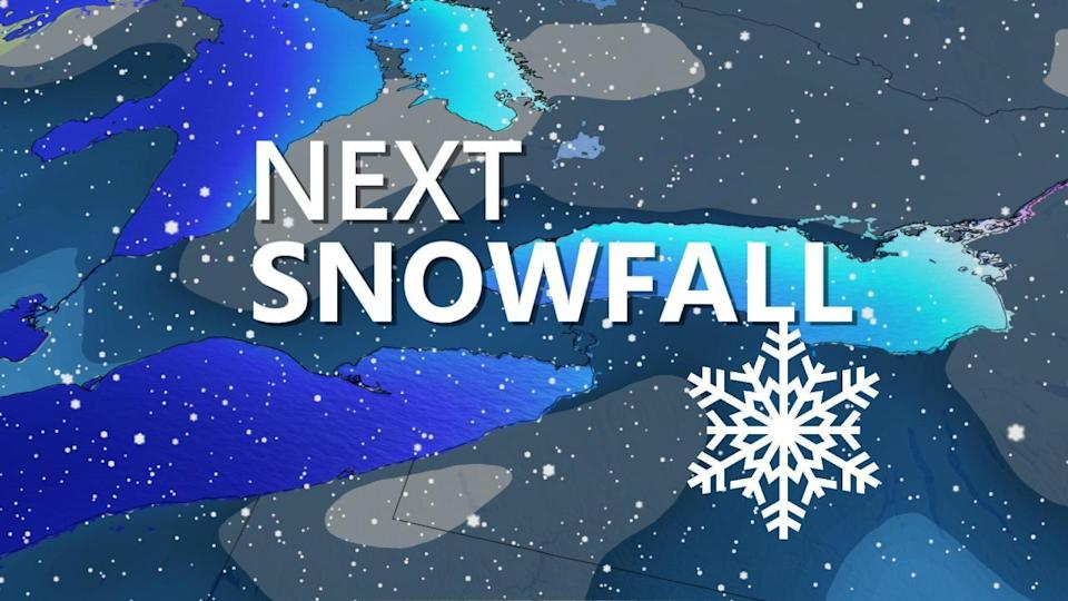 Ontario: 'Extended period of snow' probable this weekend