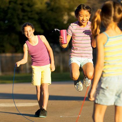 "<div class=""caption-credit""> Photo by: FamilyFun.go.com</div><div class=""caption-title""></div><p>   <b>Make a Splash</b> </p> <p>   What's the best way to jazz up a classic game of jump rope? Just add water! </p> <p>   <a rel=""nofollow"" href=""http://familyfun.go.com/playtime/make-a-splash-708510/?cmp=ELP