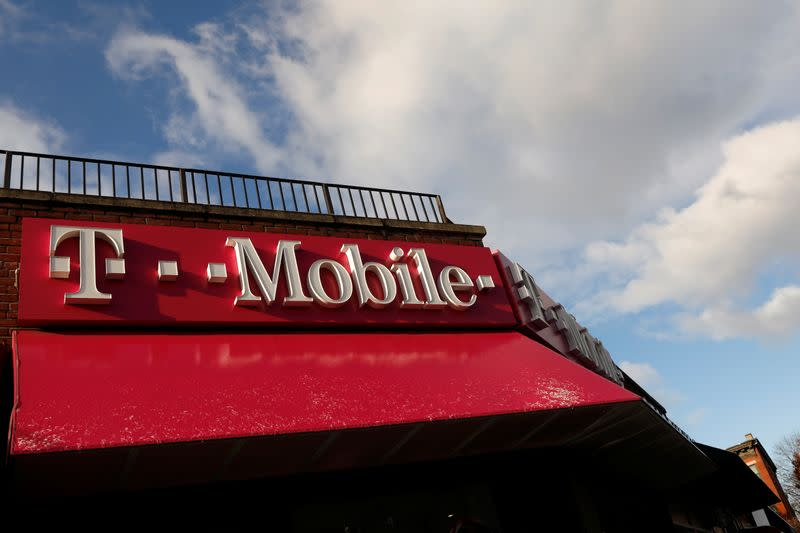 A T-Mobile store is pictured in the Brooklyn borough of in New York