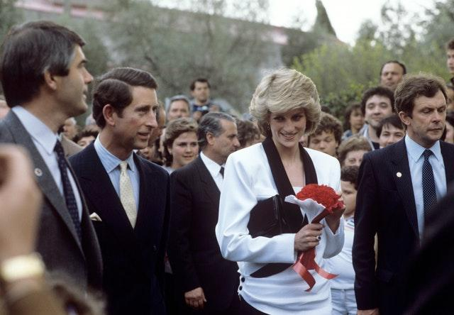 Royalty – Prince and Princess of Wales Italy and Vatican Tour