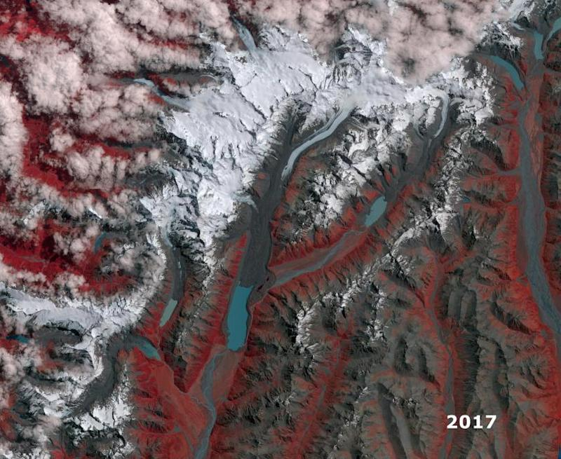 new zealand glaciers nasa