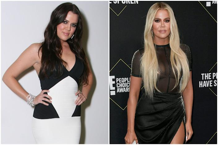 2007 vs now: Khloe is now a mum-of-one (Getty Images)