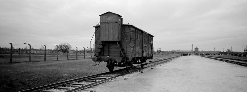 A wagon stands on the railway tracks from where hundred thousands of people were directed to the gas chambers to be murdered inside the former Nazi death camp of Auschwitz Birkenau or Auschwitz II, in Oswiecim, Poland, Sunday, Dec. 8, 2019. On Monday — 75 years after its liberation — hundreds of survivors from across the world will come back to visit Auschwitz for the official anniversary commemorations. (AP Photo/Markus Schreiber)