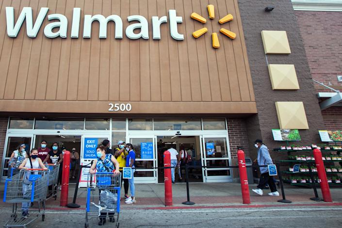 Image: The Walmart store where Phillip Thomas worked in Evergreen Park, Ill. (Eddie Quinones / for NBC News)