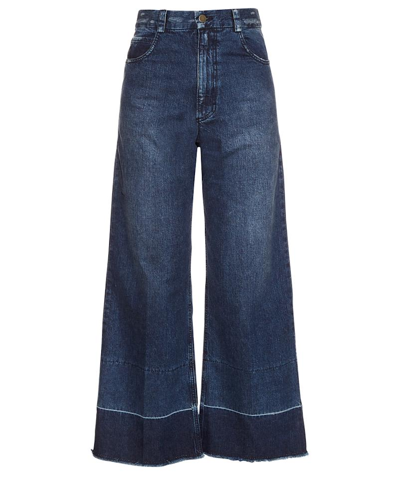 """<p>""""On a recent shopping spree at Rachel Comey I walked away with these wide-leg jeans.""""</p> <p>$345 