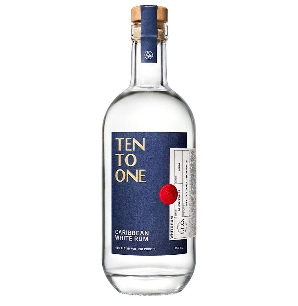 """<p><strong>Ten To One</strong></p><p>reservebar.com</p><p><strong>$2012.00</strong></p><p><a href=""""https://go.redirectingat.com?id=74968X1596630&url=https%3A%2F%2Fwww.reservebar.com%2Fproducts%2Ften-to-one-white-rum&sref=https%3A%2F%2Fwww.esquire.com%2Flifestyle%2Fg30645451%2Ffirst-valentines-day-gift-ideas%2F"""" rel=""""nofollow noopener"""" target=""""_blank"""" data-ylk=""""slk:Buy"""" class=""""link rapid-noclick-resp"""">Buy</a></p><p>A special spirit blended from Jamaican and Dominican rums without additives, Ten to One will bring brightness to winter evenings. And, you can get the bottle engraved with something personal at no extra charge.</p>"""