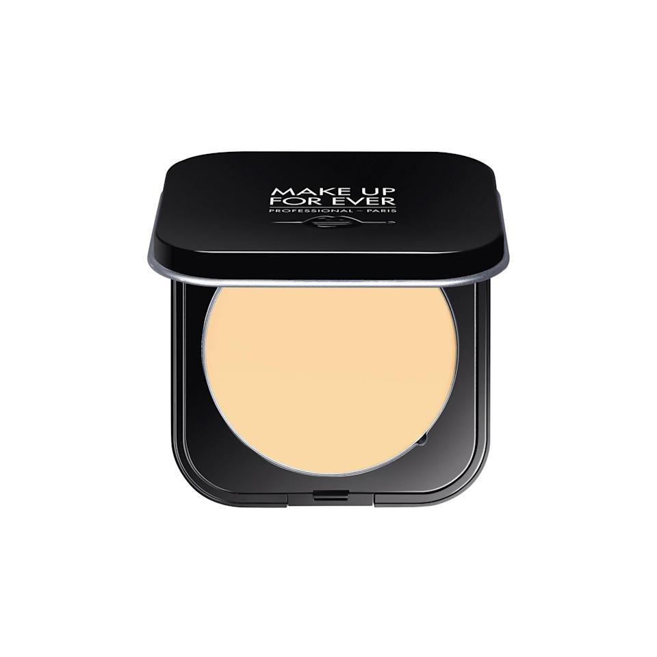 "<p>If you're looking for <a href=""https://www.allure.com/story/how-to-use-undereye-powder-brighten-dark-circles?mbid=synd_yahoo_rss"" rel=""nofollow noopener"" target=""_blank"" data-ylk=""slk:brightening powder"" class=""link rapid-noclick-resp"">brightening powder</a> in shades like apricot and banana, Los Angeles-based makeup artist <a href=""https://www.instagram.com/fionastiles/"" rel=""nofollow noopener"" target=""_blank"" data-ylk=""slk:Fiona Stiles"" class=""link rapid-noclick-resp"">Fiona Stiles</a> suggests her favorite, Make Up For Ever Ultra HD Microfinishing Pressed Powder. It's a handy, mess-free version of the beloved loose powder that comes in additional shades to help illuminate the high points of your face and undereye area. Cheng, on the other hand, prefers the translucent shade for dabbing on blemishes to quickly cover them up, especially when she's on the go.</p> <p><strong>$37</strong> (<a href=""https://shop-links.co/1711967514730647926"" rel=""nofollow noopener"" target=""_blank"" data-ylk=""slk:Shop Now"" class=""link rapid-noclick-resp"">Shop Now</a>)</p>"