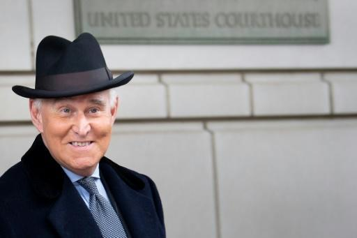 Roger Stone leaves the federal courthouse in Washington, DC after a sentencing hearing on February 20, 2020