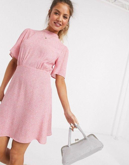 """<p><strong>New Look </strong></p><p>www.asos.com</p><p><strong>$44.00</strong></p><p><a href=""""https://go.redirectingat.com?id=74968X1596630&url=https%3A%2F%2Fwww.asos.com%2Fus%2Fnew-look%2Fnew-look-flutter-sleeve-mini-dress-in-pink-floral-print%2Fprd%2F20246903%3FCTARef%3DSaved%2BItems%2BImage&sref=https%3A%2F%2Fwww.marieclaire.com%2Ffashion%2Fg32662286%2Faffordable-sundresses%2F"""" rel=""""nofollow noopener"""" target=""""_blank"""" data-ylk=""""slk:Shop Now"""" class=""""link rapid-noclick-resp"""">Shop Now</a></p><p>Three words. Under. Fifty. Dollars. What more could you ask for? This pink fit and flare is warm weather ready, just style with a summery <a href=""""https://www.asos.com/us/asos-design/asos-design-time-tie-leg-espadrille-wedges-in-natural/prd/13505813?colourwayid=16476457&SearchQuery=&cid=6458"""" rel=""""nofollow noopener"""" target=""""_blank"""" data-ylk=""""slk:espadrille"""" class=""""link rapid-noclick-resp"""">espadrille</a> and your favorite sunnies. </p>"""