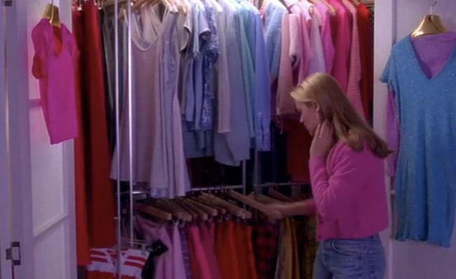 """<div class=""""caption-credit""""> Photo by: Paramount</div><div class=""""caption-title""""></div><b>Cher Horowitz's closet in """"Clueless""""</b> <br> Who needs a walk-in closet when you have your own computerized stylist complete with revolving clothing racks? We've always fantasized about having a closet like Cher's and truth be told, we're still holding out. <br>"""