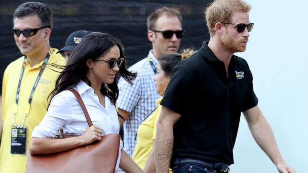 PHOTO: Meghan Markle and Prince Harry attend a Wheelchair Tennis match during the Invictus Games 2017 at Nathan Philips Square, Sept. 25, 2017 in Toronto. (Chris Jackson/Getty Images)