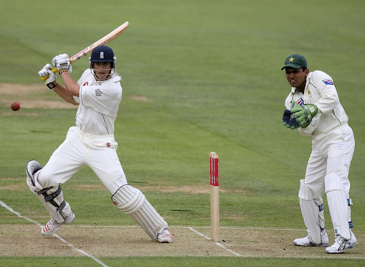 <p>After falling for 89 in his first Test match on home soil against Sri Lanka, Cook made 105 in the first match of Pakistan's tour later that summer – his first century at Lord's and first in England (Getty Images) </p>