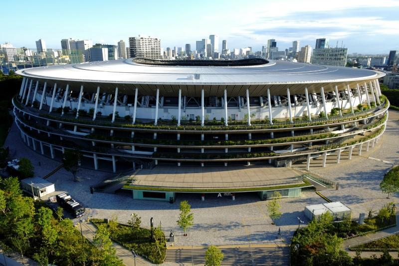 A general view of the Olympic Stadium (National Stadium) in Tokyo