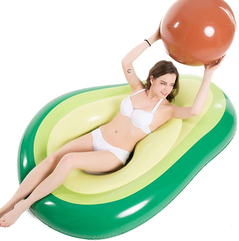 <p>How cute is this <span>Jasonwell Inflatable Avocado Pool Float With Ball</span> ($22)!? The pit is a ball you can toss around!</p>