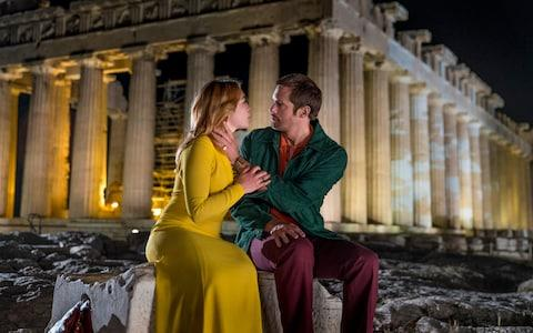 "A scene from ""The Little Drummer Girl"" filmed at the Acropolis in Greece - Credit: Jonathan Olley"