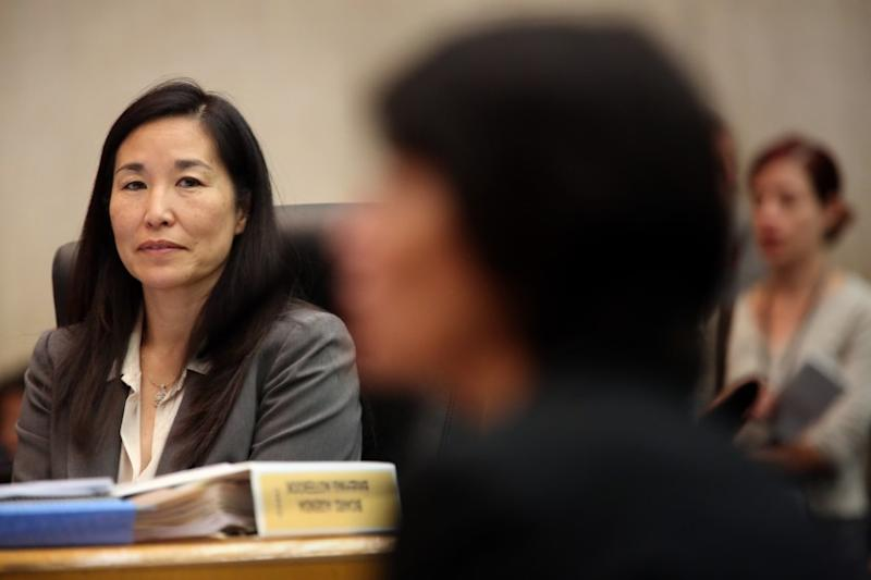 Los Angeles County officials on Monday proposed a $28-billion budget for the next fiscal year, an increase of about 1% over this year. Above, county Chief Executive Officer Sachi Hamai at a Board of Supervisors meeting in 2015.