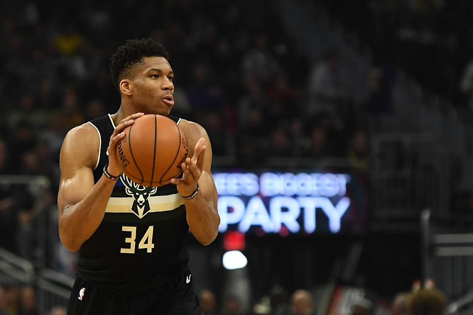 Giannis Antetokounmmpo is the reigning MVP, so, yeah, he's an All-Star. (Stacy Revere/Getty Images)