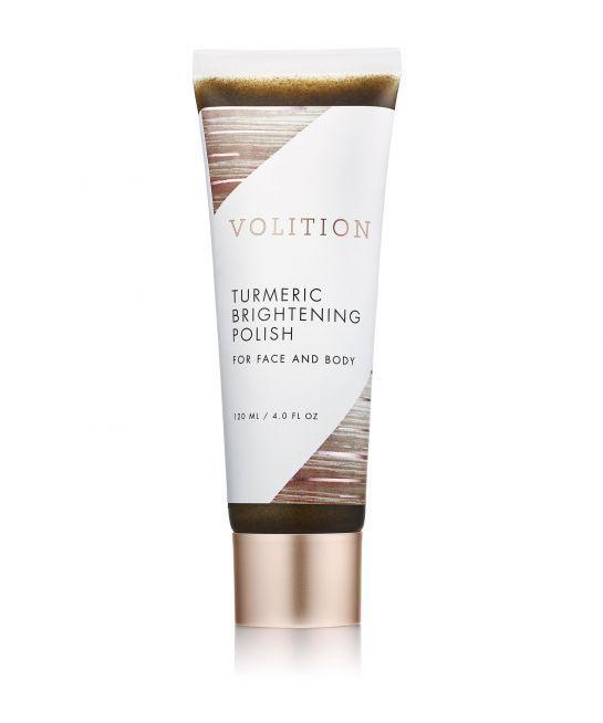 """<p>Turmeric is known for its skin-brightening properties and it's working overtime in this scrub, which is gentle enough for your face, but not so much that it can't handle rough patches on the body.</p><p><strong>Volition</strong> Turmeric Brightening Polish, $38, available on August 8 at <a href=""""http://www.sephora.com/"""" rel=""""nofollow noopener"""" target=""""_blank"""" data-ylk=""""slk:Sephora"""" class=""""link rapid-noclick-resp"""">Sephora</a>.</p>"""