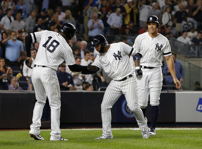 The Yankees are one win away from 100 and from the AL East title. (Photo by Jim McIsaac/Getty Images)