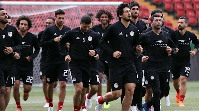 Egypt's team manager says they are focused on beating this year's 2018 Fifa World Cup hosts on Tuesday