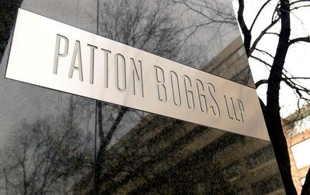 General view of front entrance for Patton Boggs LLC, in Washington